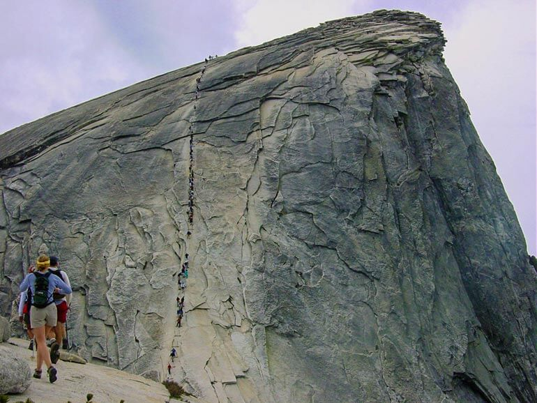 Final push to the half dome summit