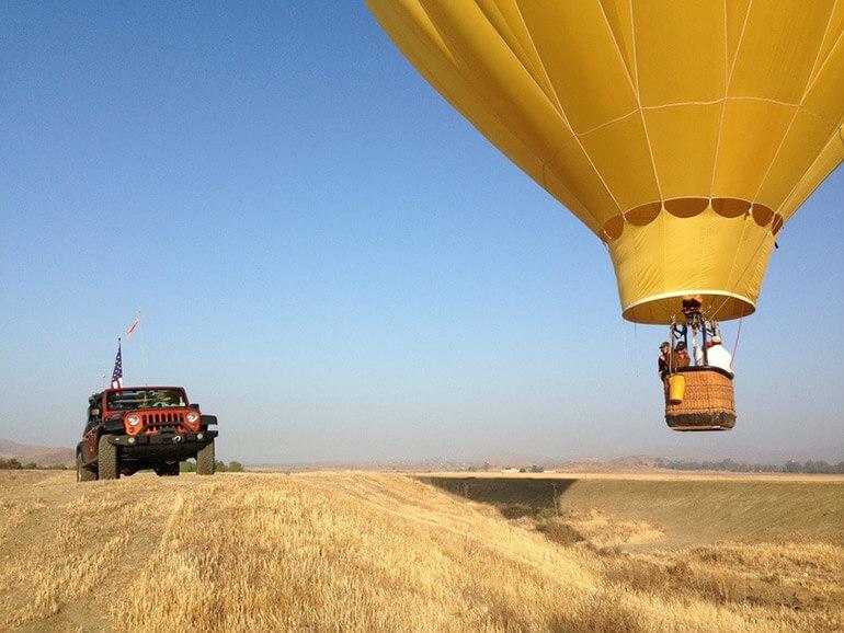 Chasing Down a Hot Air Balloon