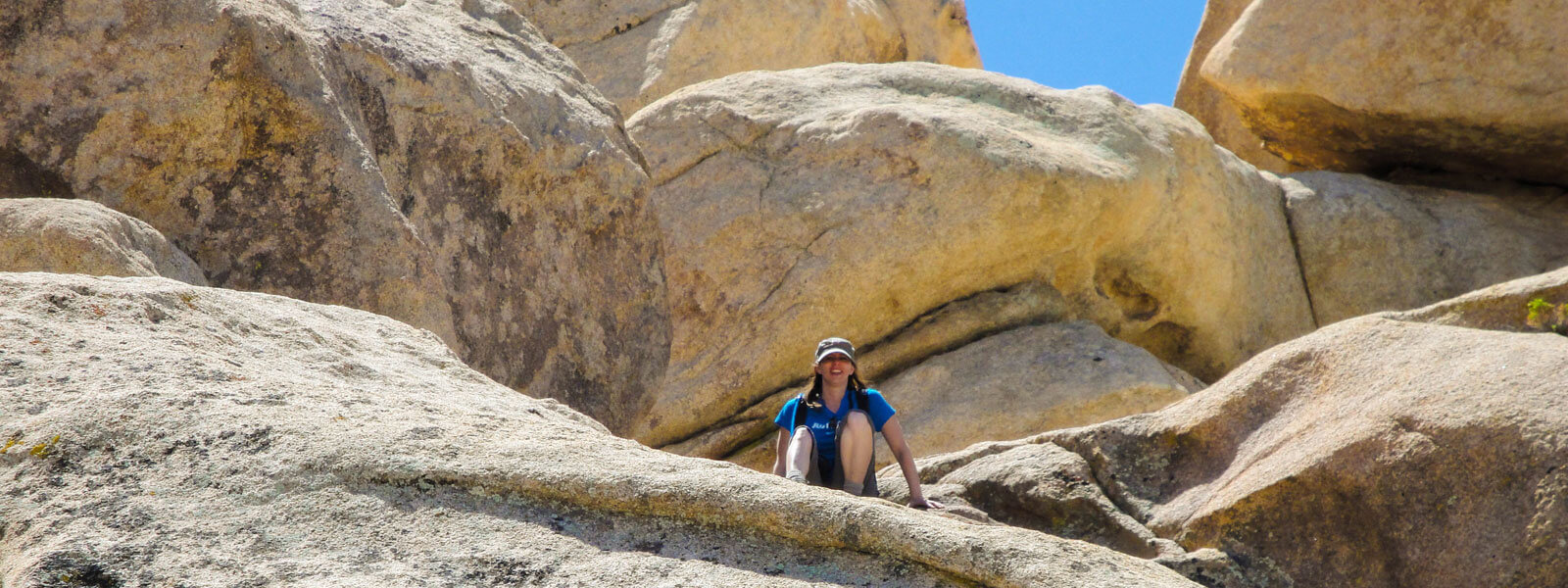 Boulder scrambling in Joshua Tree