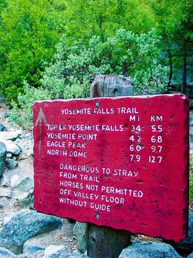 Yosemite Falls Trails