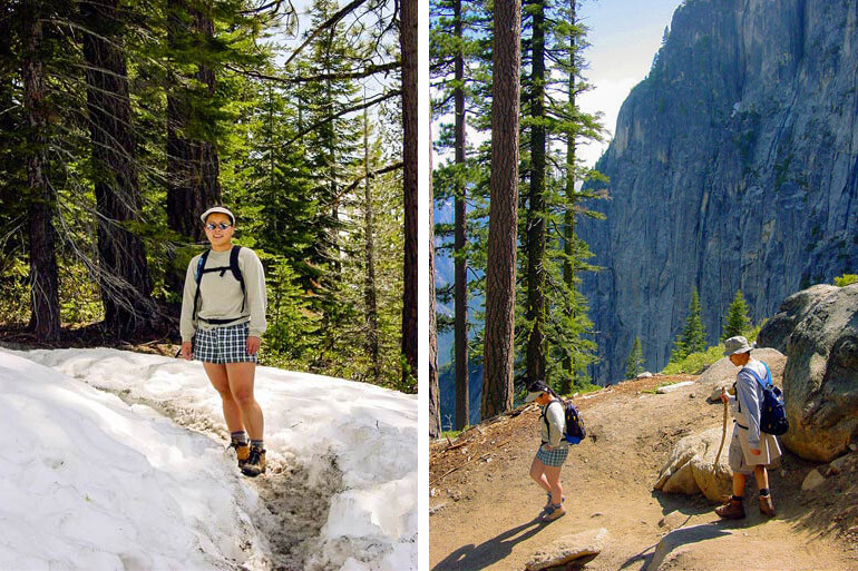 Hiking in Snow at Yosemite