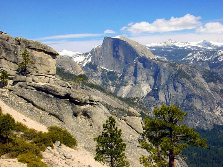 View of Half Dome from Yosemite Falls