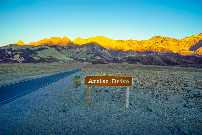 Artist Drive at Death Valley