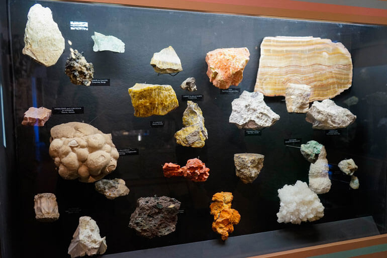 Geology Exhibit at Borax Museum