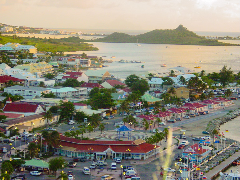 Marigot Harbor in St Maarten