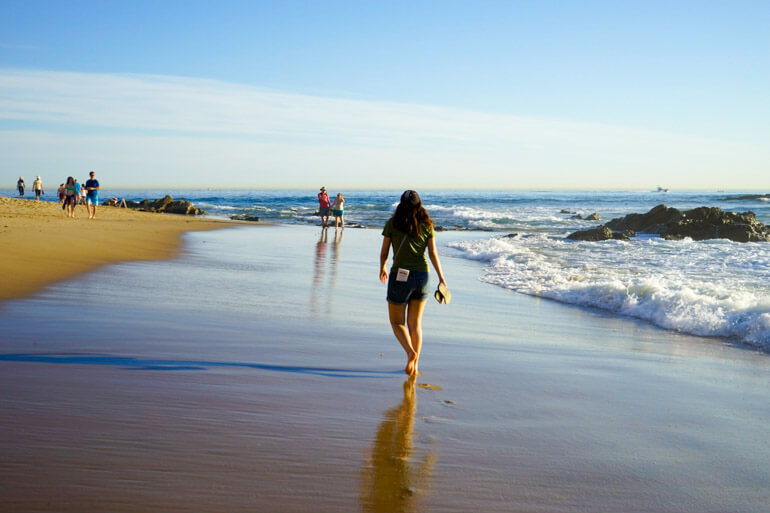 Walk along Crystal Cove Beach