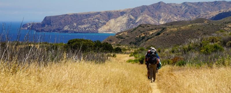 Backpacking on Santa Cruz Island