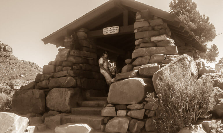 A rest house along the Bright Angel Trail