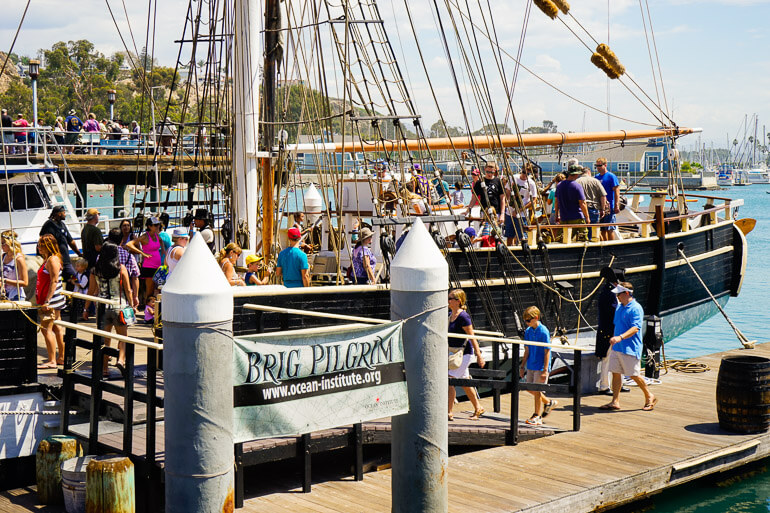 Boarding Historic Ships