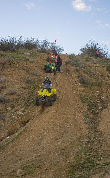 ATV on big hill in Jawbone Canyon