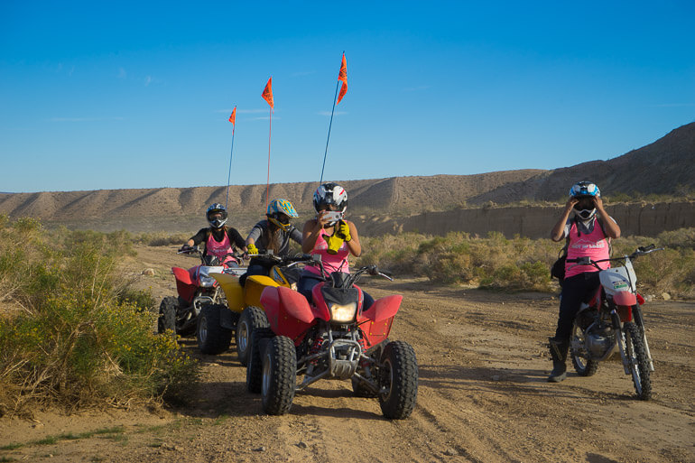 Riding ATV's in Jawbone Canyon