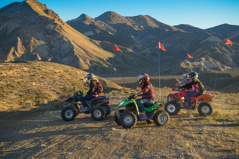 ATV riding in Jawbone Canyon