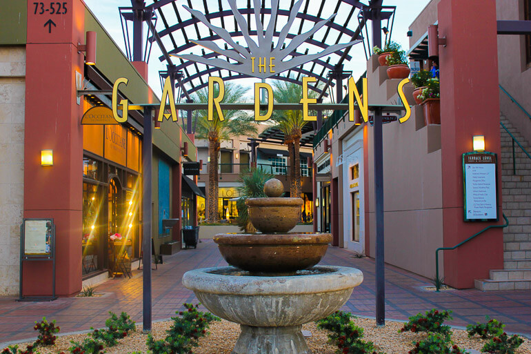 The Gardens shopping in Palm Desert
