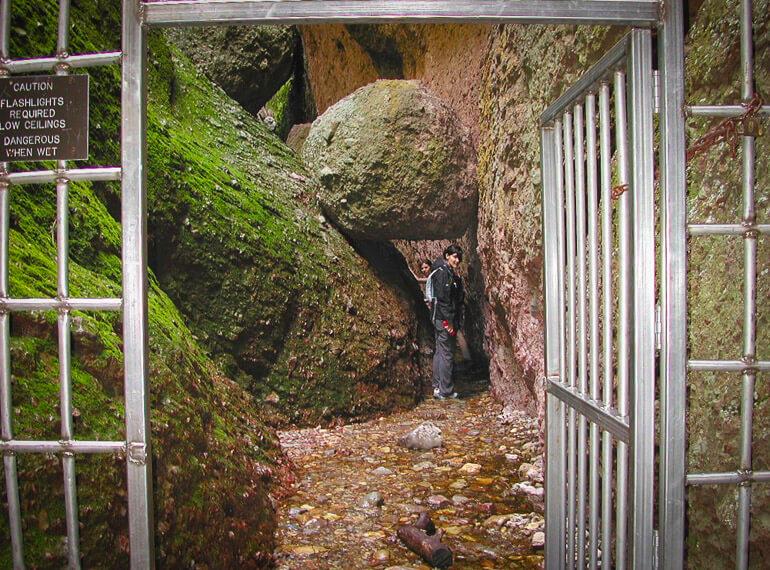 Entering Caves in Pinnacles National Park
