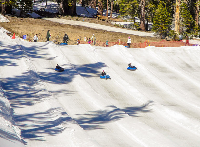 Snow tubing at Mammoth Mountain