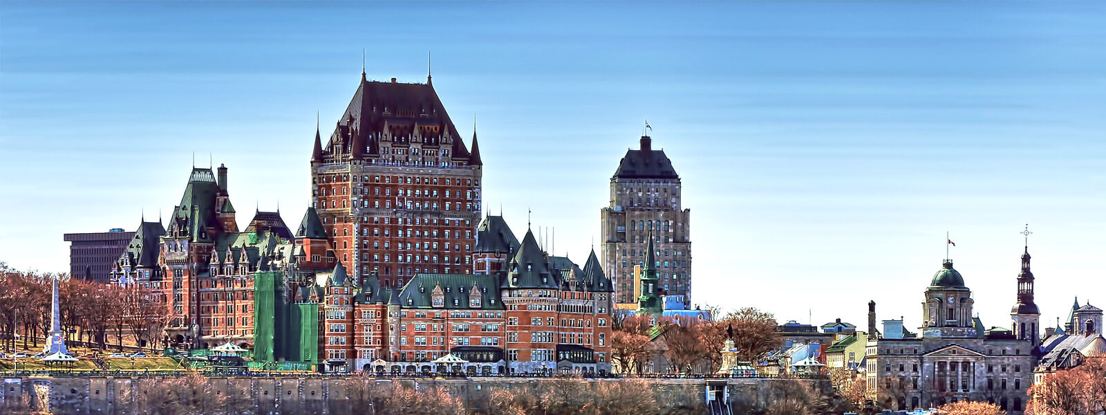 View of Old Quebec City in Eastern Canada