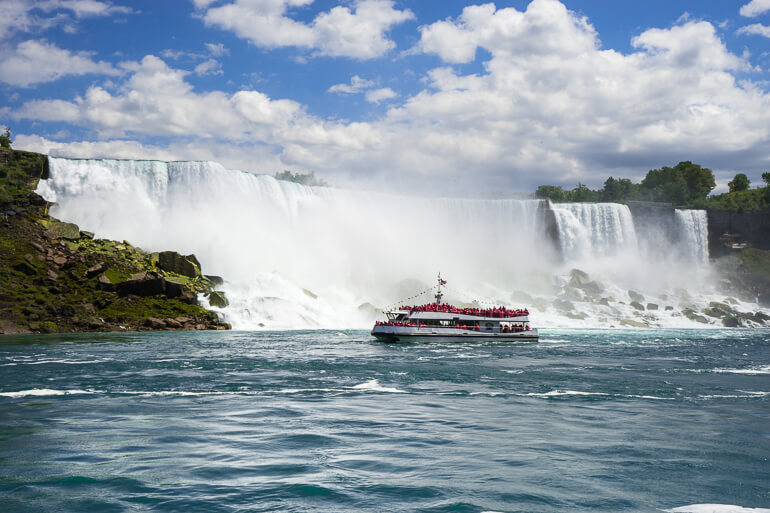 Viewing Niagara Falls from Hornblower Boat Tour