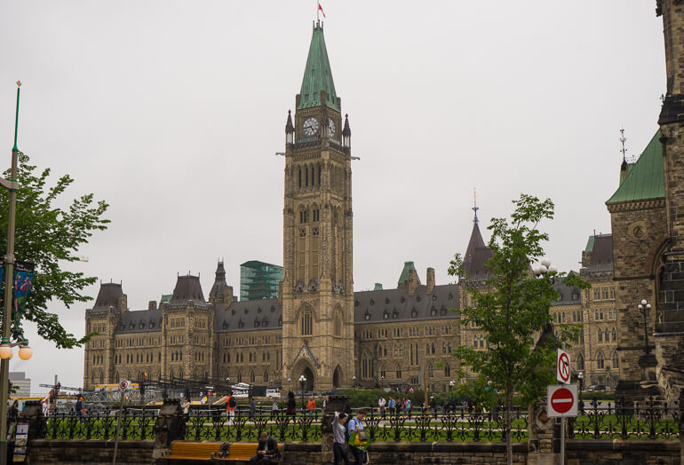 Parliament Hill in downtown Ottawa, Canada