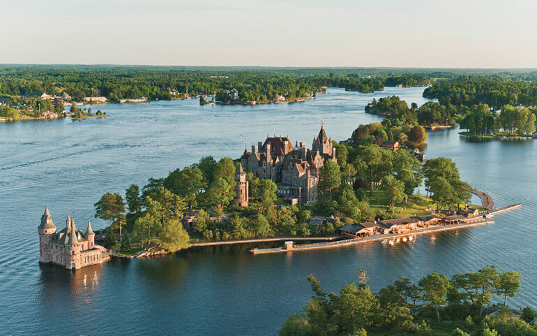 A view of Boldt Castle in The Thousand Islands