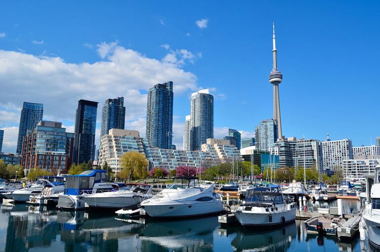 Downtown Toronto in Eastern Canada