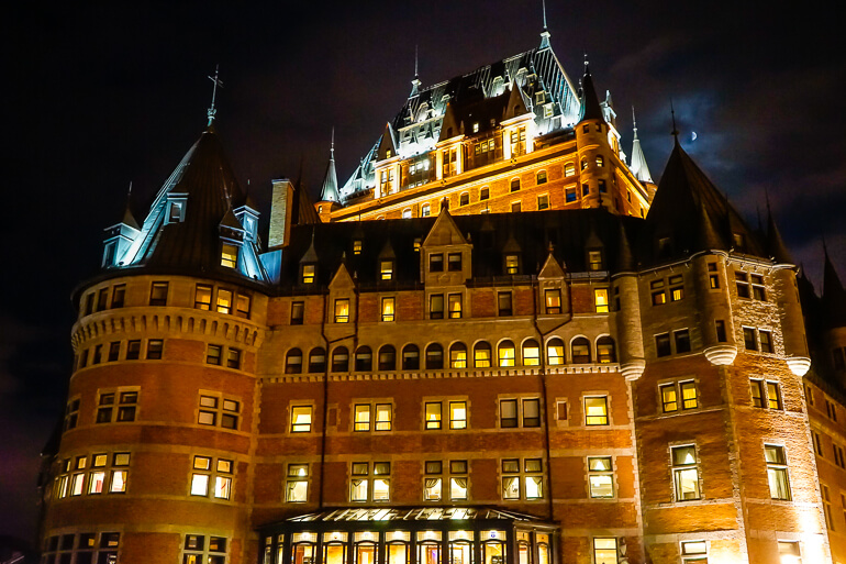 The Château Frontenac in Quebec City