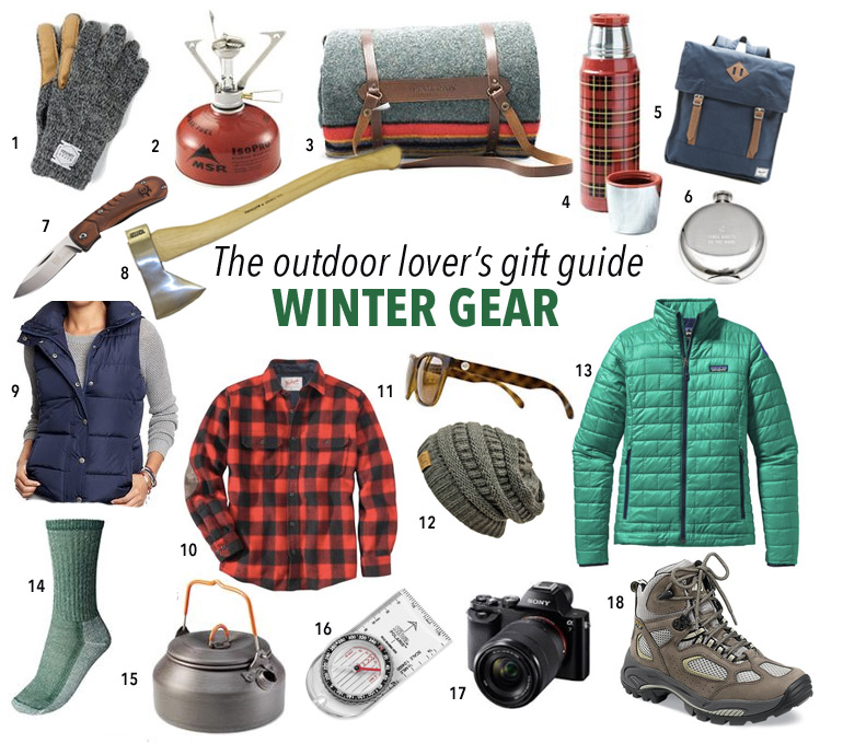Outdoors winter gear gift guide