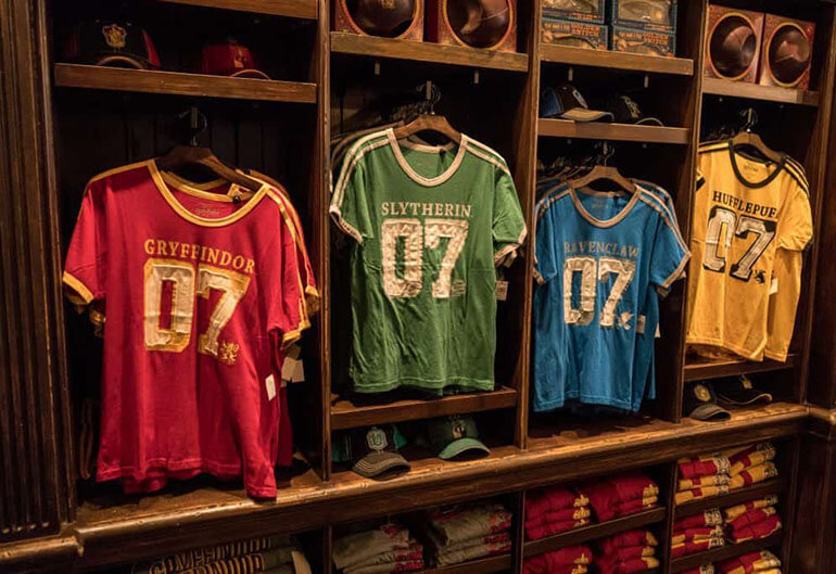 Quidditch team shirts for sale in the wizarding world
