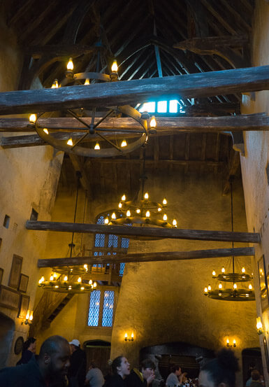 Inside The Three Broomsticks restaurant