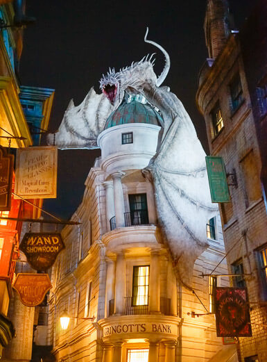 The dragon that guards Gringotts Bank