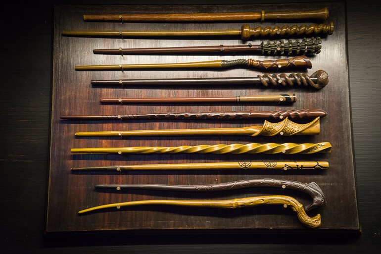 Magical wands at Ollivanders