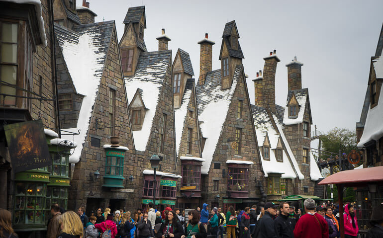 Looks like it's winter at Hogsmeade